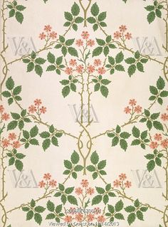 Blackberry wallpaper, by William Morris. England, late 19th century