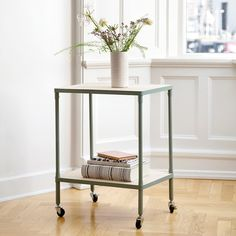 Available from Thursday 2 March // Sleek and elegant table with a range of possible uses. Trolley table, 65x50x35 cm. Price per item DKK 288,00 / ISK 7189 / SEK 408,00 / NOK 398,00 / EUR 39,98 / GBP 41,08