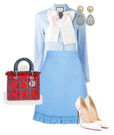 """""""Untitled #365"""" by sh-66-sh on Polyvore featuring Gucci, Christian Louboutin, Christian Dior and Tory Burch"""