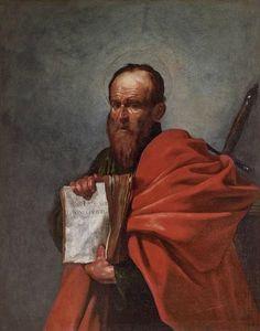 Jusepe Ribera (1591 – 1652), Saint Paul, vers 1612 : Huile sur toile 126 x 97 cm, Florence, Fondazione di Studi di Storia dell'Arte Roberto Longhi