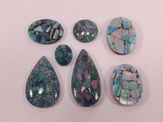 Premium Mixed Lot of Mosaic Opals from scrap gold silver & vintage jewelry