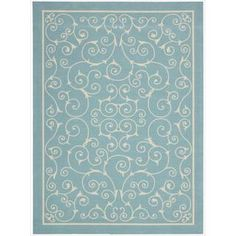 Shop for Nourison Home and Garden Indoor/Outdoor Light Blue Rug (7'9 x 10'10). Get free shipping at Overstock.com - Your Online Home Decor Outlet Store! Get 5% in rewards with Club O!