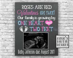 Are you looking for a great way to share with your friends and family the exciting news of expecting a baby? This cute chalkboard printable not only makes a great photo prop and / or card but its also perfect to upload onto social media sites to make your big announcement!  ♥♥♥ This is a printable digital file - NO PHYSICAL PRODUCT WILL BE SENT ♥♥♥  You will receive a digital file formatted to be printed as either a 4x6, 5x7, 8x10, 11x14 or 16x20 which you can print from home or at any ...