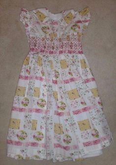 Carmen Lucia Girl Vintage Dress sz 6 Smocked Easter RARE