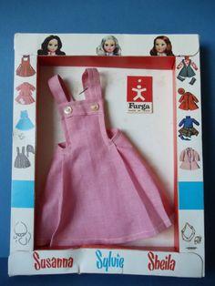 Furga ALTA MODA Doll Clothes Vintage '60s NRFB Dress Susanna Sylvie Sheila ITALY