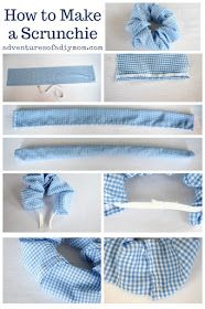 How to make a scrunchie - hair scrunchies are a quick and easy sewing project anyone can do. You don't even need a pattern to make these, and it's so much fun! Also check out more than 100 other free tutorials on this site! Easy Sewing Projects, Sewing Projects For Beginners, Sewing Hacks, Sewing Tutorials, Sewing Crafts, Sewing Patterns, Sewing Tips, Free Tutorials, Hair Tutorials