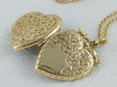 Circa 1900 Marriage Motif Antique Gold Locket by AntiqueLockets, $500.00