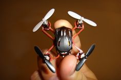 Since the evolution of RC quad copters, we couldn't find any smaller quad copter than palm sized ones like V-Cam Quadcopter and some of thos...