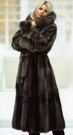 Russian Sable Fur Coat Find a great fur coat in Toronto - visit the Yukon Fur Co. at http://yukonfur.com #Fashion Passion to Fur world