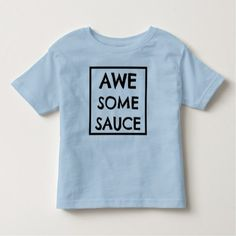 Toddler Boys Tshirt - Awesome sauce - kids shirt - toddler youngster infant child kid gift idea design diy
