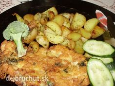 Fotorecept: Obrátené kuracie rezne Czech Recipes, Russian Recipes, Ethnic Recipes, Snack Recipes, Cooking Recipes, Snacks, Poultry, Potato Salad, Cauliflower