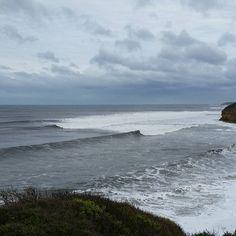 Nice weather for it! #not #whatwouldiknow #worldclass #surf #beach #australia #bellsbeach #fripples #thoseblackdotsaresurfers #waves #greatoceanroad #roadtrip #nofilter #victoria by spaceykace http://ift.tt/1KnoFsa