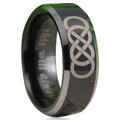 Lorenzo - Black Silver Double #Infinity #Tungsten #EngagementRing #LaMiaCara