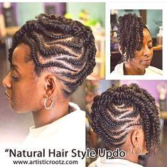 Braided Hairstyles Updo, Flat Twist Hairstyles, Flat Twist Updo, African Braids Hairstyles, Cornrows Updo, Dreadlock Hairstyles, Black Hairstyles, Updos, Wedding Hairstyles
