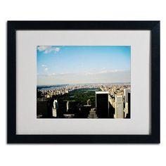 """Trademark Art """"NYC Skies"""" by Ariane Moshayedi Framed Photographic Print"""