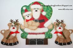 Scrapbooking for Others: Santa and Reindeer Tear Bear Paper Piecing Embellishments