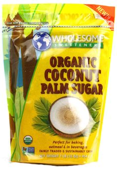 Wholesome Sweeteners Organic Coconut Palm Sugar - a must try. #VitacostNFCA @Celiac Central NFCA @Vitacost.com