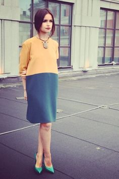 Perfect, and with the green shoes, too; Miroslava Duma.