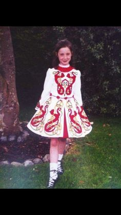 Traditional irish dancing costumes
