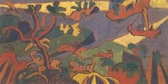 Study for a Mural Decoration for 'The Cave of the Golden Calf' - Spencer Gore - The Athenaeum