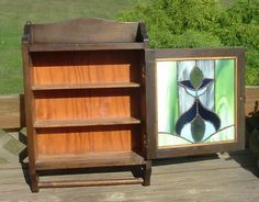 Vintage Stained Glass  Medicine Cabinet by LAKEWAYCANDLES on Etsy, $250.00