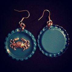 Hey, I found this really awesome Etsy listing at https://www.etsy.com/listing/165826624/great-earrings-with-blue-crab-floating