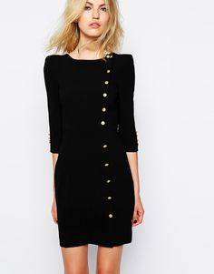 Dia Dress with Button Detail