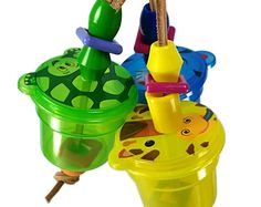 Cute Critter Foraging Toy for Birds - Small, Medium Parrot Toy Foraging Cup