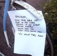 Stealing a bike in Canada