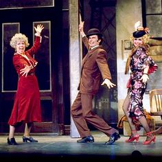 "Barbara Erwin as Lily St. Regis, Robert Fitch as Rooster Hannigan, and Dorothy Loudon as Miss Hannigan in the show-stopping, ""Easy Street"" sequence from the Original Broadway production of ""Annie""."