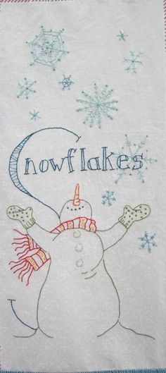 I love me a snowman! Quilt pattern from Crabapple Hill.