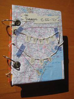 Another example of using ring binders for cards or a mini-scrapbook.