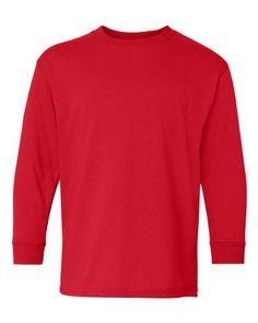 Heavy Cotton Youth Long Sleeve T-Shirt - 5400B Casual Coats For Women 6b0e3fd4f