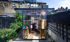 Designed in London as a way to utilize backyards and interstitial spaces, Minima Moralia Pop-Up Studios are minimalistic structures designed to allow designers, sculptors, painters, musicians and other creatives to have a quiet space to get stuff done while still interacting with the outside world.