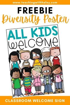This adorable classroom sign is perfect to hang outside your door, or to print off as a large poster and hang in your room. Remind your kiddos that everyone is welcomed and loved!