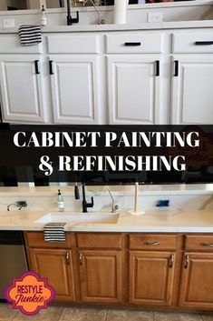 We are experts in cabinet refinishing who thrive on meeting challenges with creativity and expertise.  Cabinet Refinishing   Cabinet Painting   Before & After   Restyle Junkie   Home Makeover   Updated Home   Home Renovation   Greater Phoenix Area Unique Home Decor, Cheap Home Decor, Home Renovation, Home Remodeling, Painting Bathroom Cabinets, Paint Cabinets White, Cabinet Refinishing, New Cabinet, Large Bathrooms