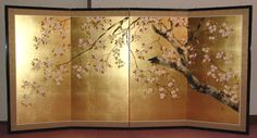 Sakura byobu (japanese folding screen)