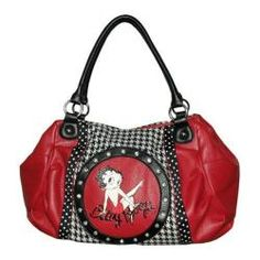 Women's Betty Boop Signature Product Betty Boop™ Bag BB1034 Black - Overstock™ Shopping - Great Deals on Betty Boop Signature Product Shoulder Bags