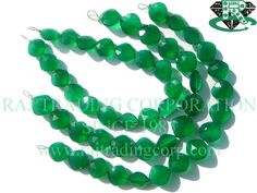 16 pieces of Green Onyx Beads In Cushion Faceted Shape, Quality AAA, 11 to mm, 18 cm, Semiprecious Gemstone Beads Semi Precious Beads, Semi Precious Gemstones, Tourmalinated Quartz, Pink Amethyst, Bead Store, Green Onyx, Gemstone Beads, Cushion, Unique Jewelry