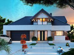 DOM.PL™ - Projekt domu DM Opałek X 2G CE - DOM GM3-32 - gotowy koszt budowy Home Fashion, Mansions, House Styles, Minecraft Pe, Home Decor, Ideas, House Template, Templates, Modern Home Plans