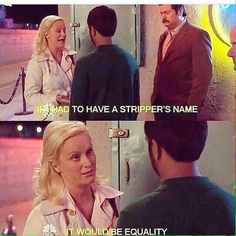 When Amy wrote this perfect line for Parks and Recreation.