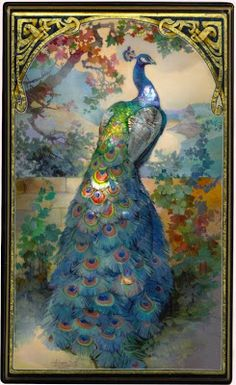 bumble button: Peacocks from old books and a Frederick Leighton painting.