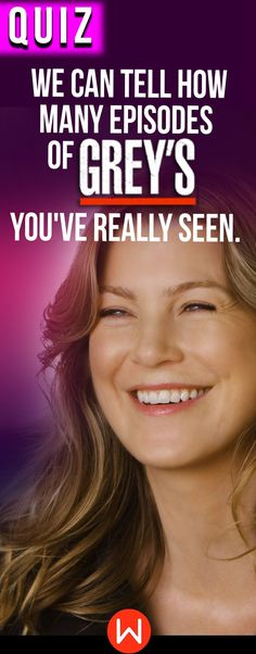 Take this Grey's quiz and we'll tell you precisely how many Grey's Anatomy episodes you've watched! Are you a superfan? Or just an average fan? This Grey's Anatomy personality quiz will reveal! Are you basically Meredith Grey's person? We'll see! Greys Anatomy Funny, Greys Anatomy Episodes, Greys Anatomy Characters, Greys Anatomy Couples, Greys Anatomy Facts, Grey Anatomy Quotes, Grays Anatomy, Himym Episodes, Astrology