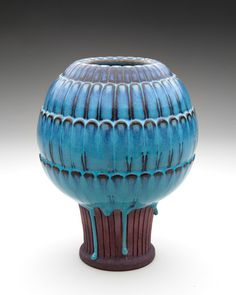 Vase 1944–47; Wilhelm Kåge (1889–1960); Collection of Sid and Terry Garrison - on show at SFO terminal two