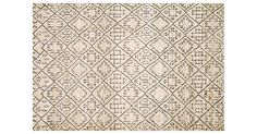 Hand-knotted of wool and jute, this rug is designed with tribal-inspired motifs in versatile neutral hues. Jute rugs are softer underfoot than other natural-fiber options like sisal and sea grass,...