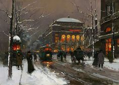 Art Renewal Center :: Edouard Leon Cortes :: Chatelet in Winter Arctic Monkeys, Zouk Machine, Marie Laforêt, Maurice Utrillo, Original Paintings For Sale, Impressionist Artists, Billie Holiday, Post Impressionism, Nature