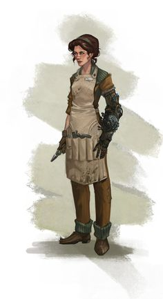 Female blacksmith who still needs a name...I think I was playing with Boche. sounds pretty gender neutral to me...