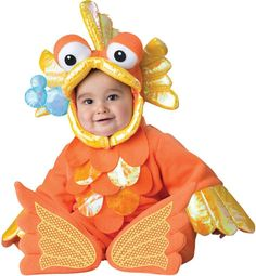 Toddler Girl's Costume: Giggly Goldfish | 12M-18M - 1 Units