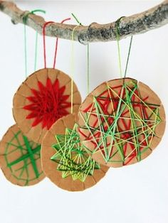 Here are some ideas of decorations you and your kids can make to hang on our first community tree