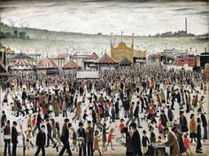 Laurence Stephen Lowry Good Friday, Daisy Nook, 1946 x cm) Manchester Art, English Artists, British Artists, Sketches Of People, Spencer, David, Good Friday, Urban Landscape, Figure Painting